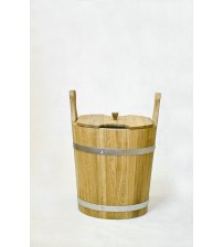 Drewniane wiadro na trzepaczki, dąb