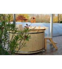 Vasca idromassaggio in abete, 160 cm