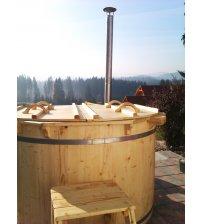 Bañera de hidromasaje de abeto, 200 cm.