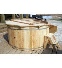 Vasca idromassaggio in larice, 180 cm