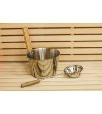 Jekleno vedro, 4,5 L z zajemalko