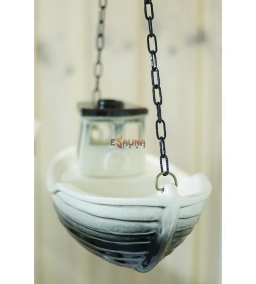 Ceramic odors trawler for sauna
