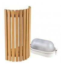 Sawo lamp and lattice set 914-VD, cedar