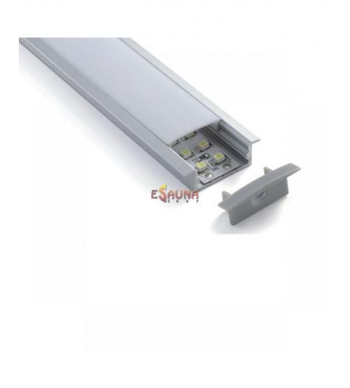 Pārklāts LED pirts apgaismojums, 12VDC / 240V