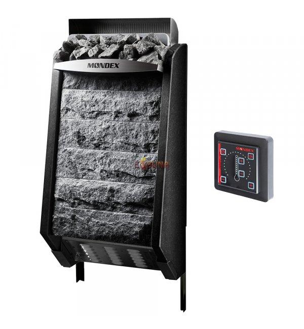 elektrische saunaofen mondex sense nature black. Black Bedroom Furniture Sets. Home Design Ideas