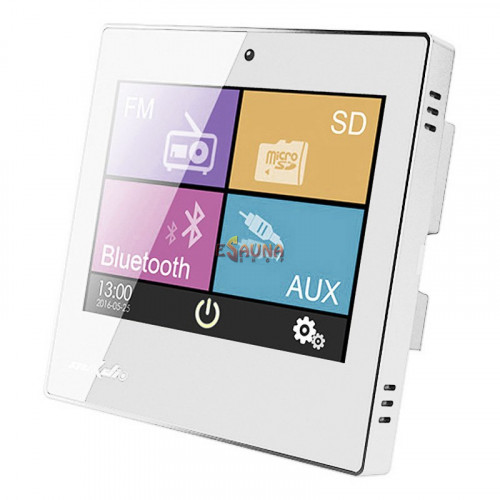 Smart Home on Wall Music Amplifier DSPPA DM837. White in New products on Esaunashop.com online sauna store