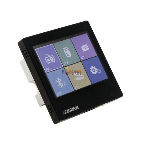 Smart Home on Wall Music Amplifier DSPPA DM837. Black in New products on Esaunashop.com online sauna store