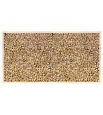 Panel enmarcado de enebro, 500x1000 mm