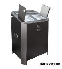 Elektrinė pirties krosnelė - VVD Parizhar 10 kW Black version