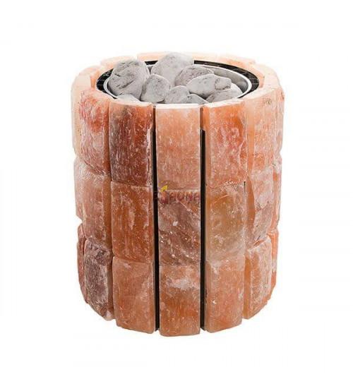 Calentador de sauna eléctrico - Estreno de VVD en revestimiento de sal del Himalaya de 9 kW