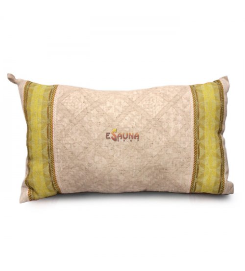 Aromatic linen pillow for sauna, peppermint