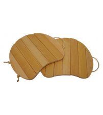 Sedile in legno, sospeso