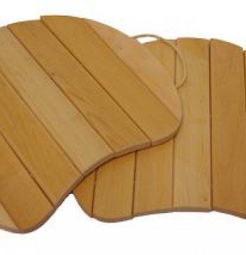 Asiento de madera, colg..