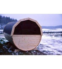 Saună într-un butoi din lemn de molid, 4m