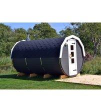 Sauna in een vat van sparrenhout, 5m