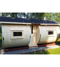 Sauna in botte di legno di abete rosso, 6m