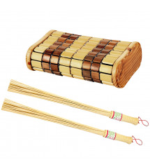 Juego de reposacabezas y batidor de bambú