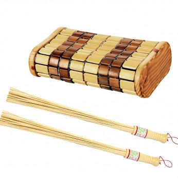 Nackstöd och bambu visp..