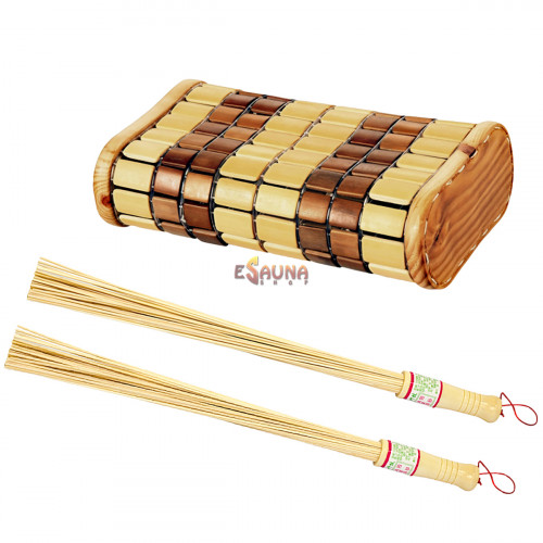 Sada metiel a opierky hlavy a bambusu
