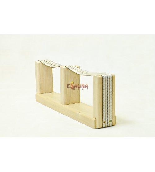 Sauna voetsteun met strikband