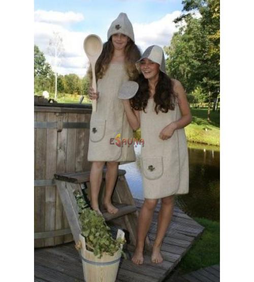 Grembiule da sauna per donna