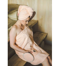 Sauna Forklæde til kvindelig PEACH