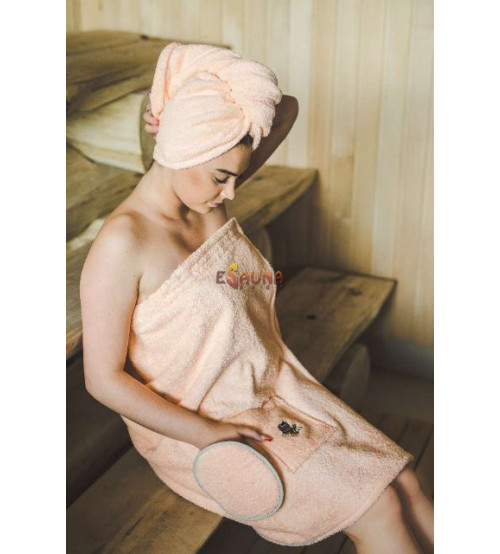 Sauna Apron for Female PEACH