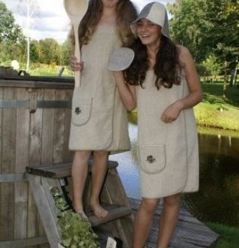 Tablier de sauna pour f..