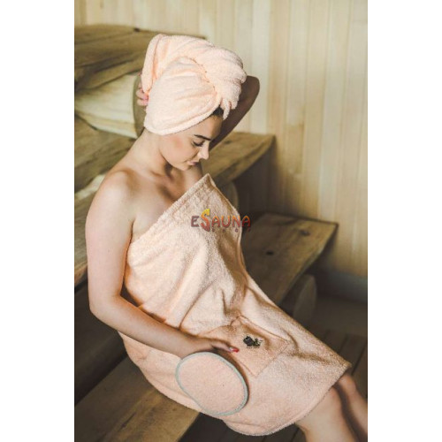Sauna Apron for Female PEACH in Sauna accessories on Esaunashop.com online sauna store
