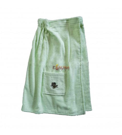 Frauenschürze. Grüne Farbe