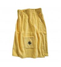 Frauenschürze. Gelbe Farbe