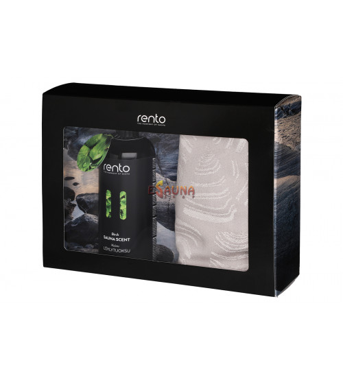 Rentosauna gifts set: Birch Scent & Seat Covers 2pcs