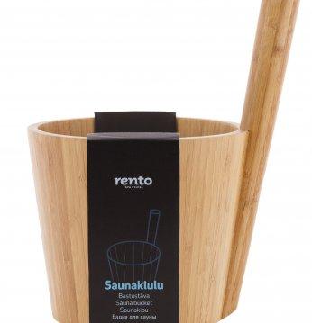 Seau de sauna en bambou..