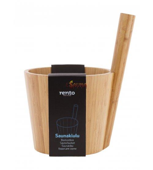 Sauna bucket in ecological bamboo RENTO