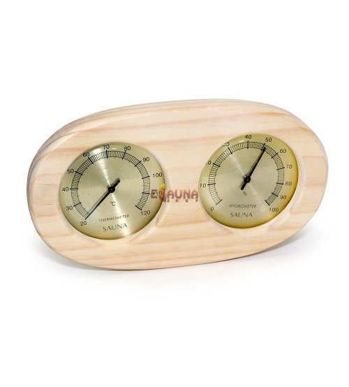 Sauflex thermo-hyrgrometer, horizontal, oval