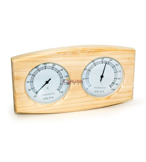 Sauflex thermo-hyrgrometer, horizontal, curved box