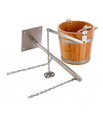 """Sauflex """"cold shower"""" bucket with holder"""