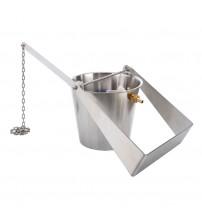 """Sauflex """"cold shower"""" bucket, Stainless steel"""