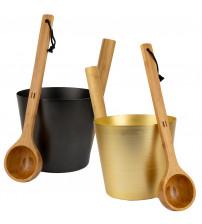 Set cupe și găleți din aluminiu SAUFLEX