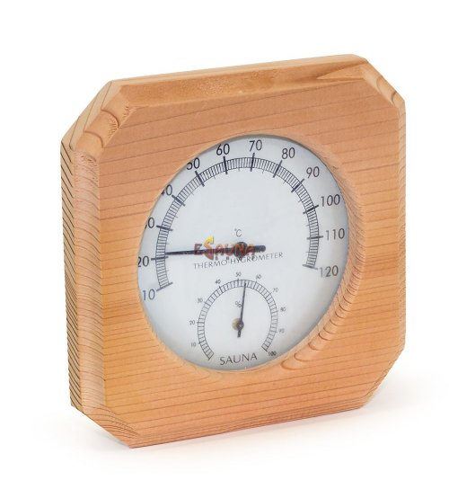 Sauflex thermo-hygrometer, cedar