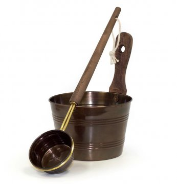 Saunia pail and ladle, ..