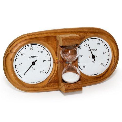 Saunia 3 in 1 termo-higrometras su smėlio laikrodžiu 591L