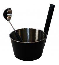 Saunia Edelstahl schwarz Set 4,0 L