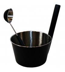 Saunia stainless steel black set 4,0 L