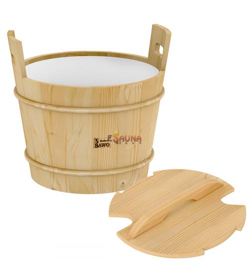 Cubo de madera Sawo con tapa, 28L