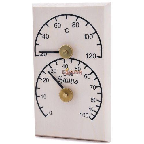 Sawo vertikalni termohigrometer 106-THB, aspen