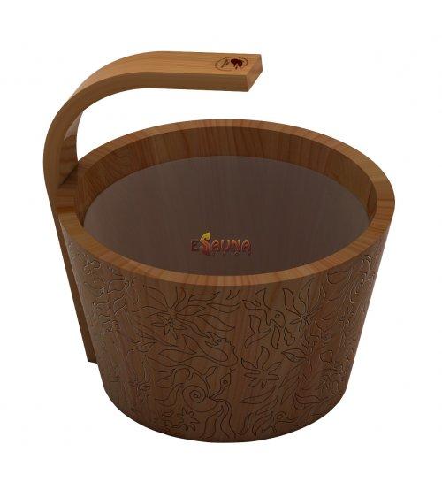 Sawo steamwater pail, cedar, 4 L