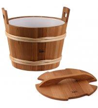 Sawo wooden bucket with lid, cedar, 40 L