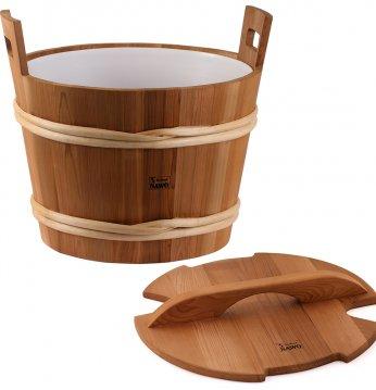 Sawo дървена кофа с кап..