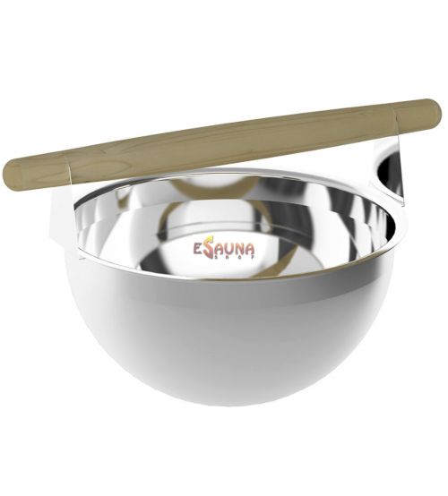 Sawo stainless bucket 375-MP, 5 L, with pine handle